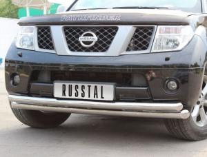 NISSAN Pathfinder 4 Защита переднего бампера d76/63 (дуга) NPZ-000353